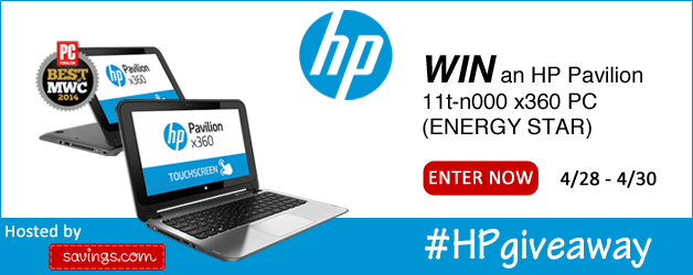 Savings HP Laptop Giveaway