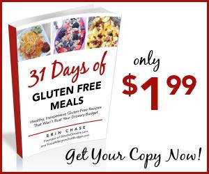 31 Days of Gluten Free Meals E Cookbook