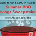 Favado Summer BBQ Savings Sweepstakes (Enter to Win $2,500)