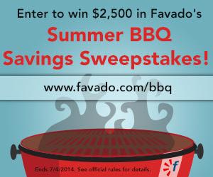 Favado Summer BBQ Savings Sweepstakes
