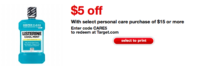 Target Personal Care Coupon