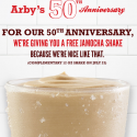 Arby's: FREE Jamocha Shake (July 23rd Only)