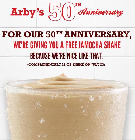 Arbys FREE Jamocha Shake