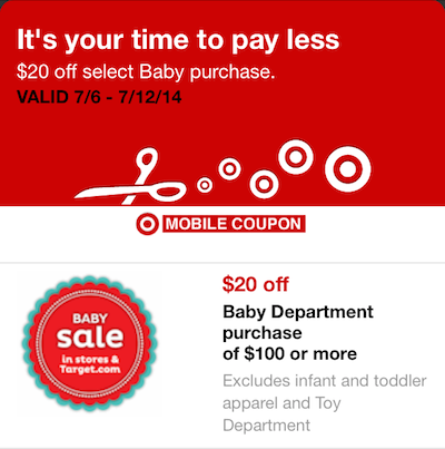 Target Baby Coupon