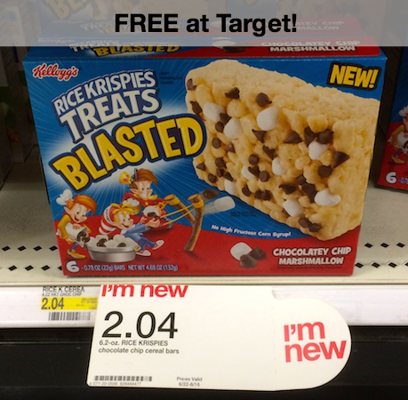 Rice Krispies Treats Blasted Target Cartwheel Offer