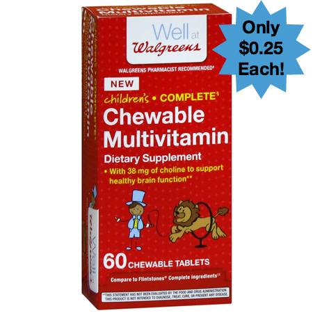 Walgreens Childrens Chewable Multivitamins