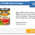 SavingStar: FREE Rotel Diced Tomatoes