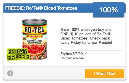 Rotel Tomatoes SavingStar