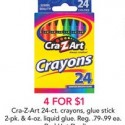 Toys R Us: Crayons, Glue Sticks, and Liquid Glue $0.25 Each + More
