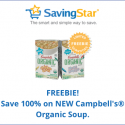 SavingStar: FREE Campbell's Organic Soup