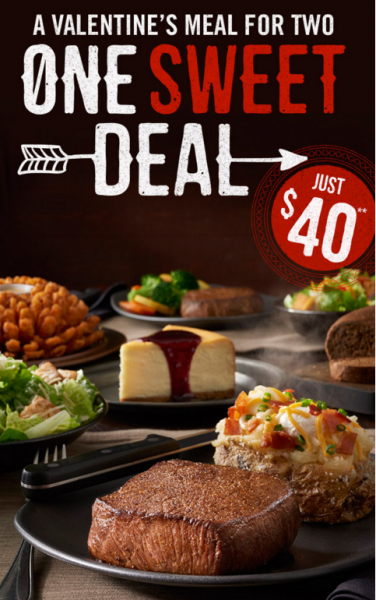 Outback Steakhouse Valentine's Day Deal