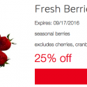 Save 25% on Produce with Target Cartwheel