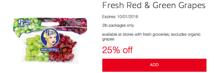 Target Cartwheel Produce Offers