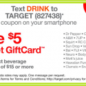 Target: FREE $5 Gift Card with Select $15 Beverage Purchase