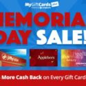 MyGiftCardsPlus Memorial Day Promotion (Earn Cash Back on Gift Cards)